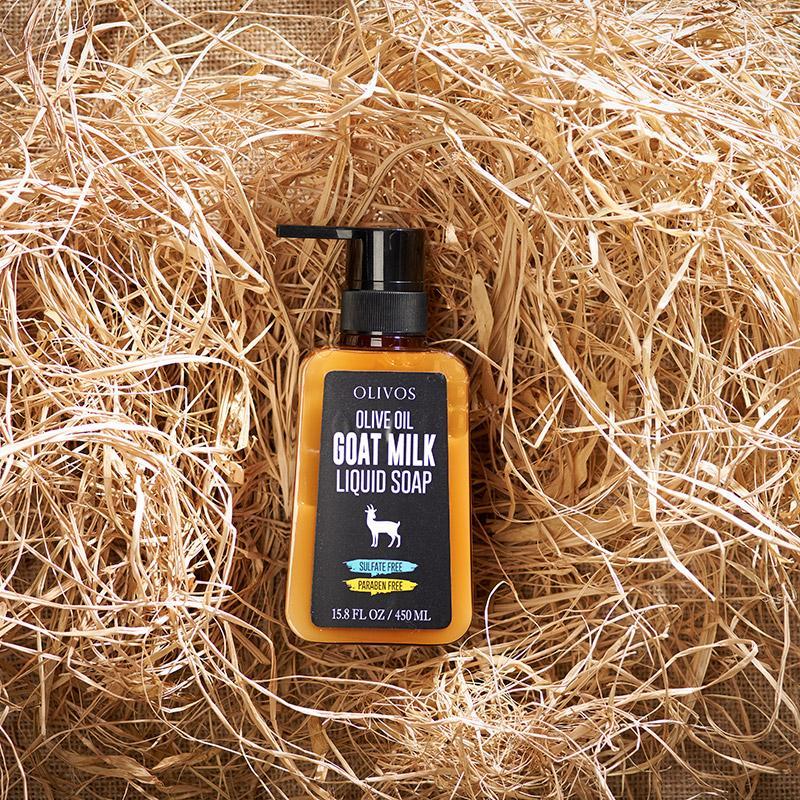 Olivos  liquid soap Goat milk жидкое натуральное оливковое мыло 450 мл.