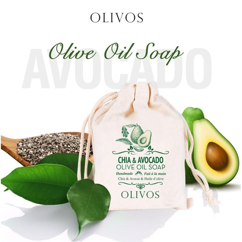 Olivos Chia&Avocado натуральное оливковое мыло   150 гр